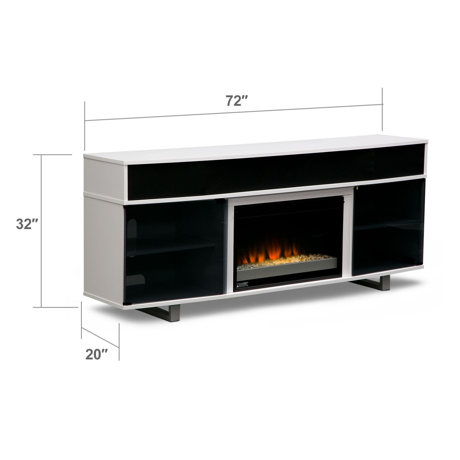 pacer fireplace tv stand with sound bar value city furniture