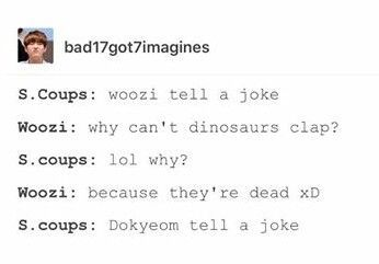 Am I the only one that enjoys Woozi's joke