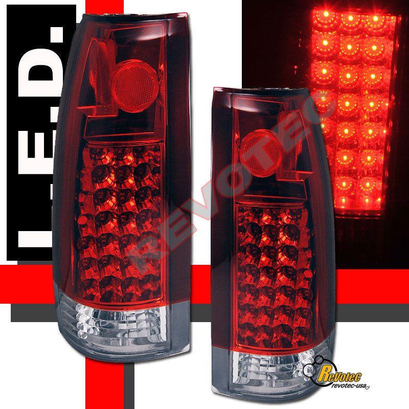 Details About 88 K C10 Suburban Gmc Sierra Led Smoke Brake Tail Lights Lamps Pair