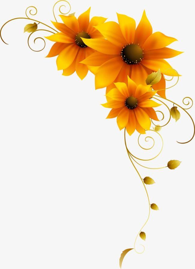 Sunflower Yellow Flower Pattern Flower Painting Sunflower Art Flower Art