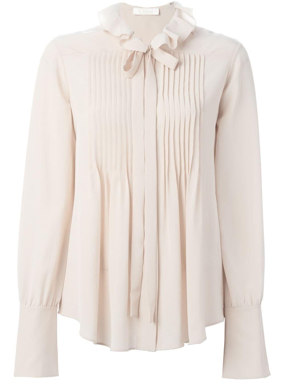 Chloé Bow Detail Shirt - Bungalow-gallery - Farfetch.com  c0bb9662bd5