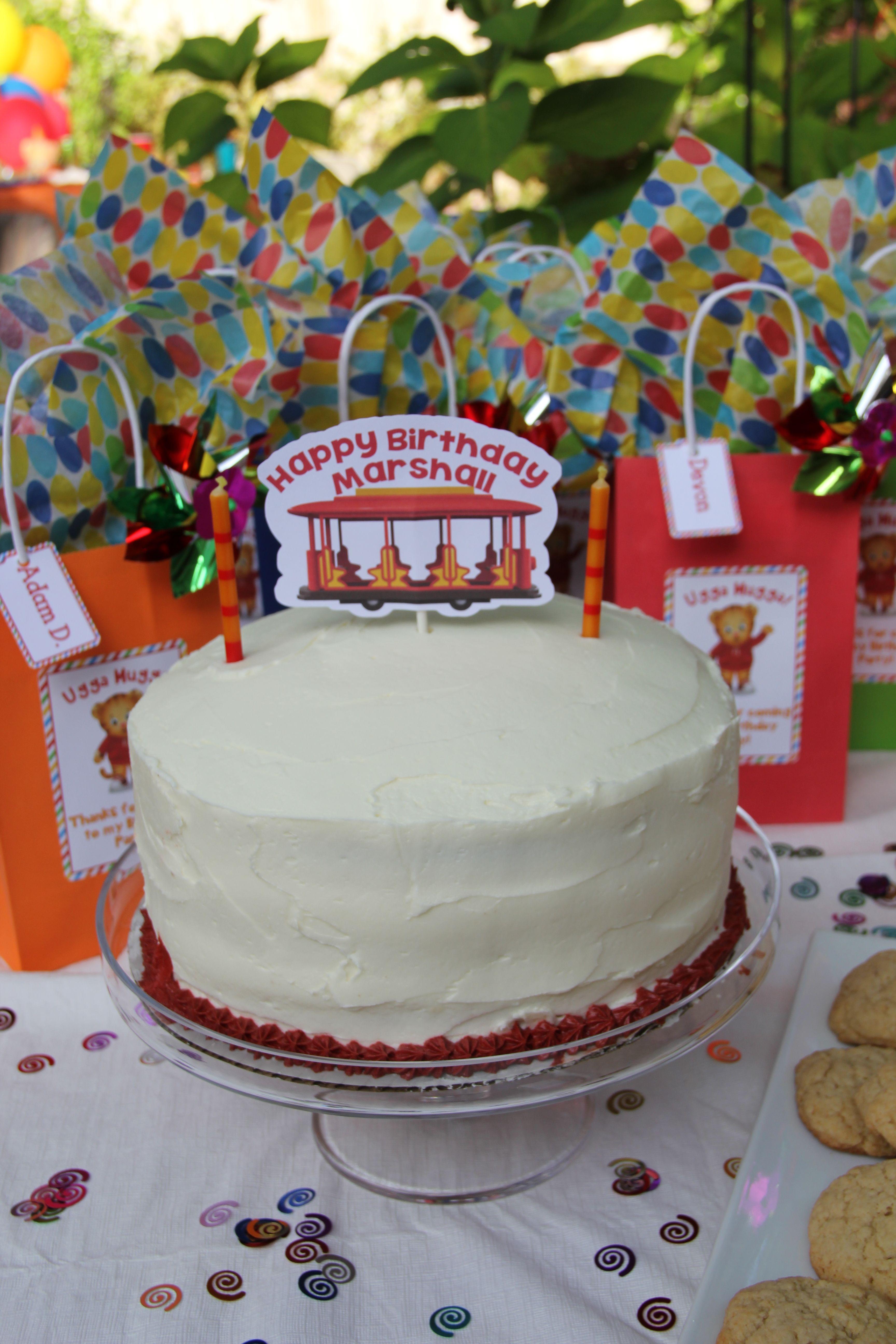Daniel tiger trolly birthday cake topper daniel tiger