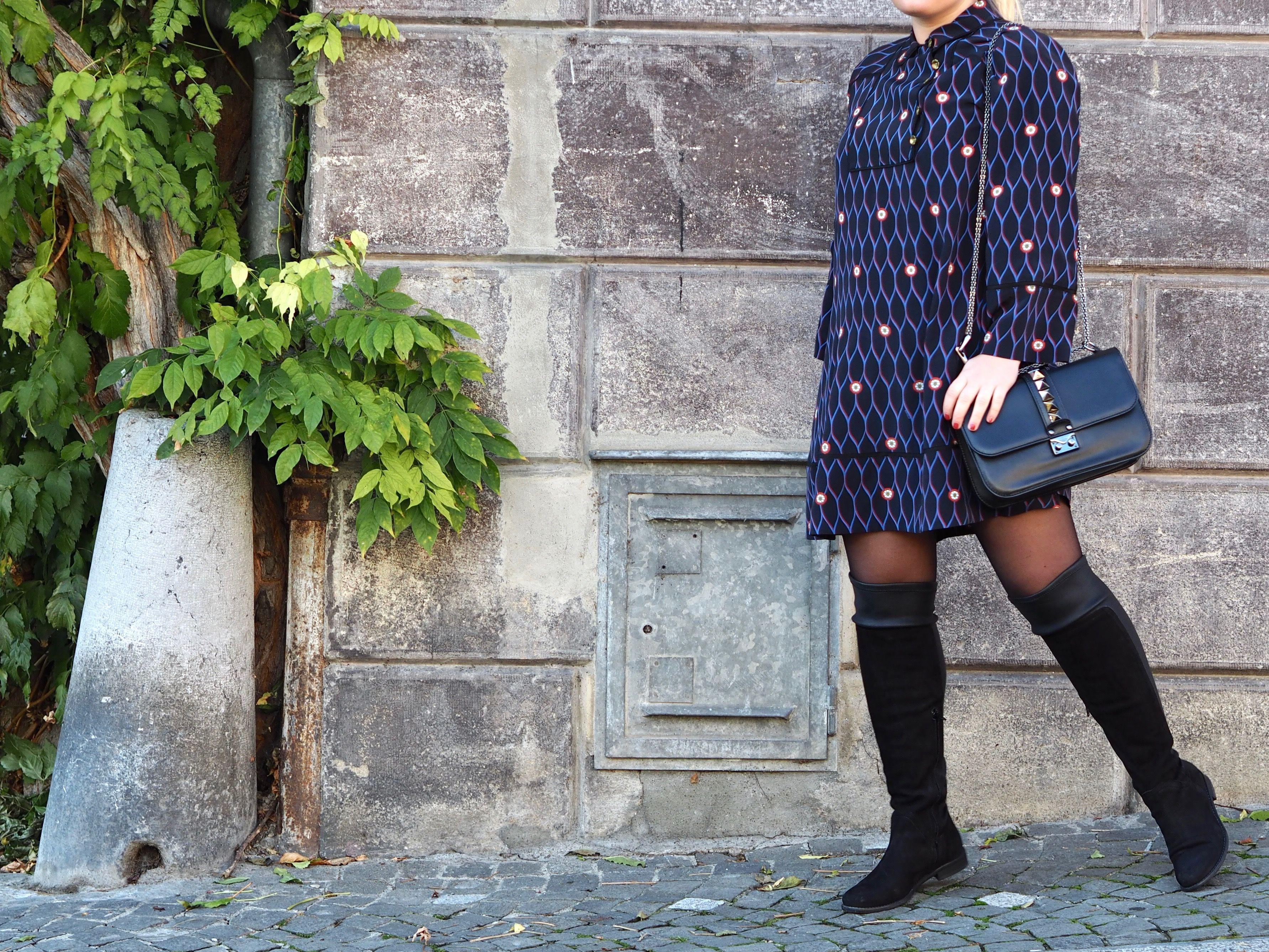 KenzoXHM dress and Valentino bag