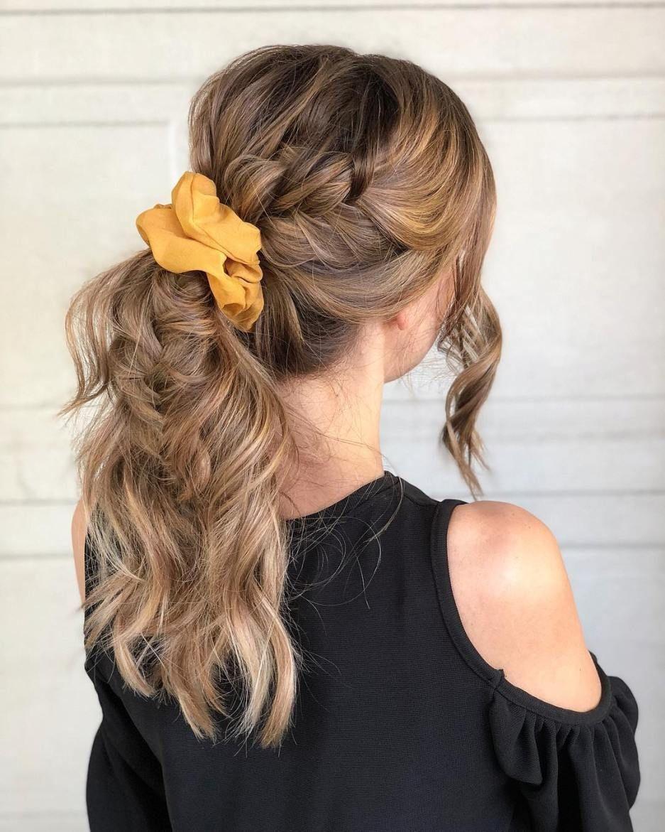 Braid ponytail hairstyle