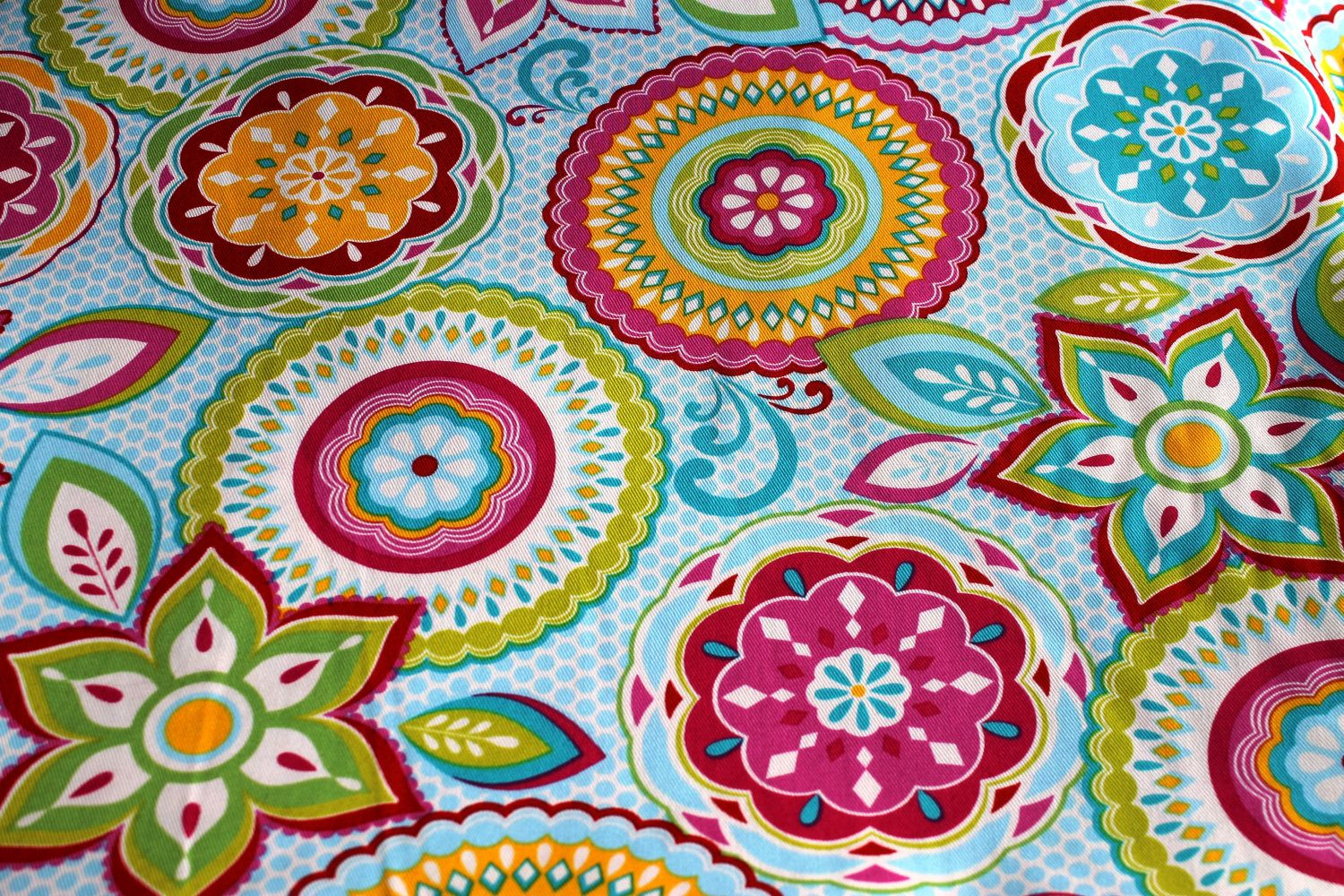 Colorful, Floral, Brother Sister Design Studio Fabric, 1
