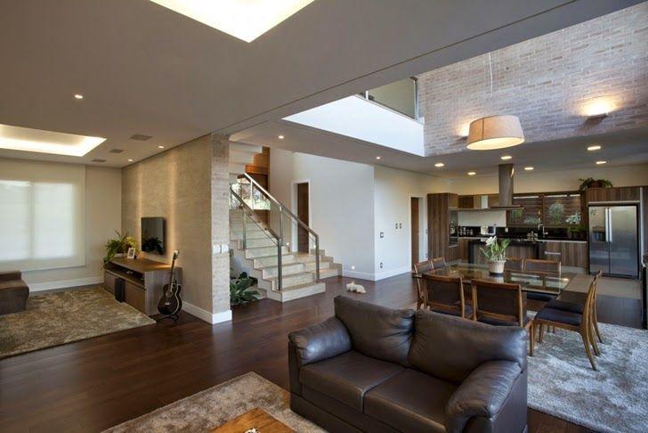 Casa brasileira com arquitetura e decora o moderna for Ver interiores de casas modernas