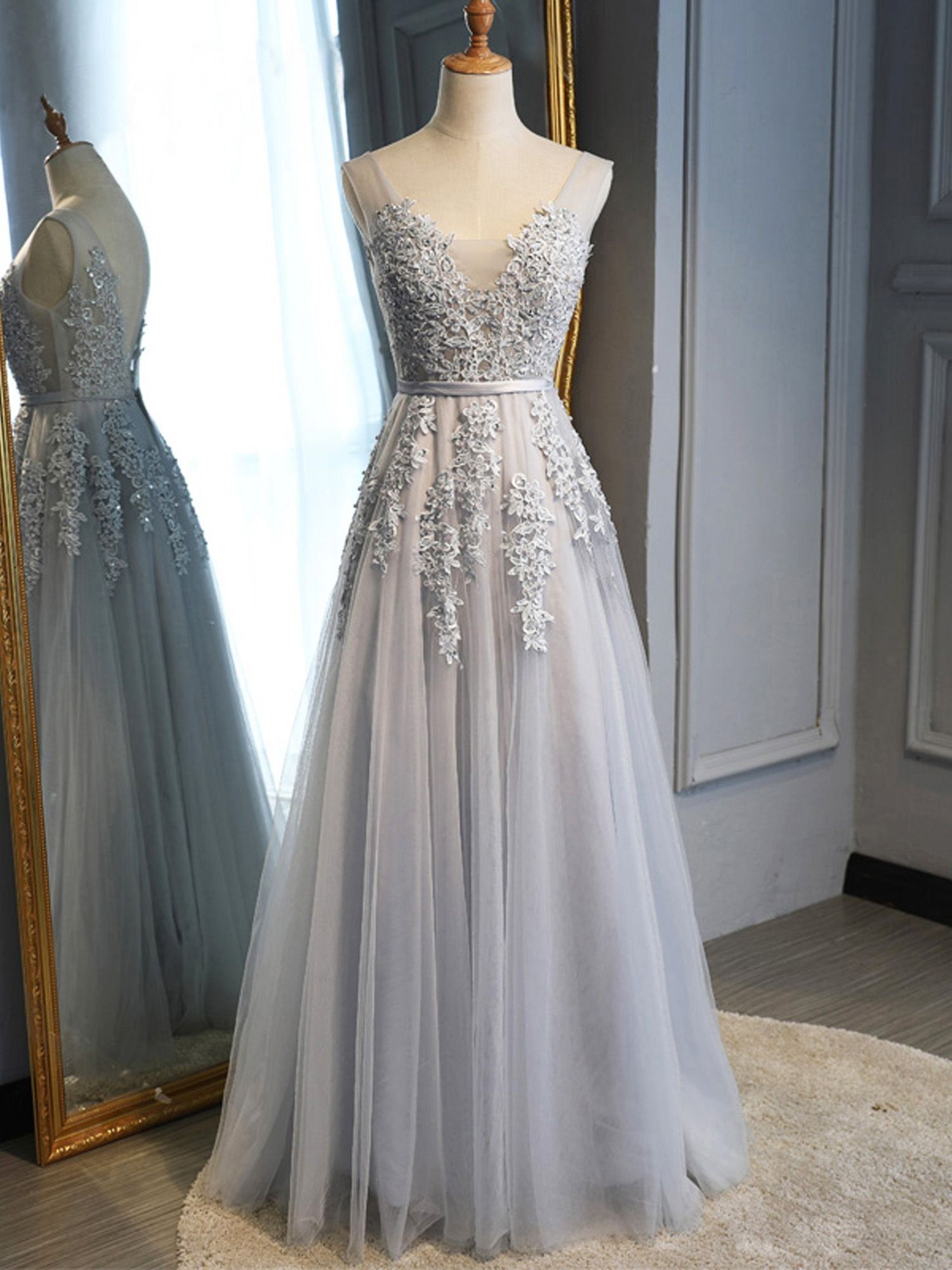 Ever Pretty Ever Pretty Womens Floral Lacey Elegant Prom Bridesmaid Dresses For Women 07544 Grey Us4 Grey Prom Dress Cute Prom Dresses Prom Dresses For Teens [ 2000 x 1500 Pixel ]
