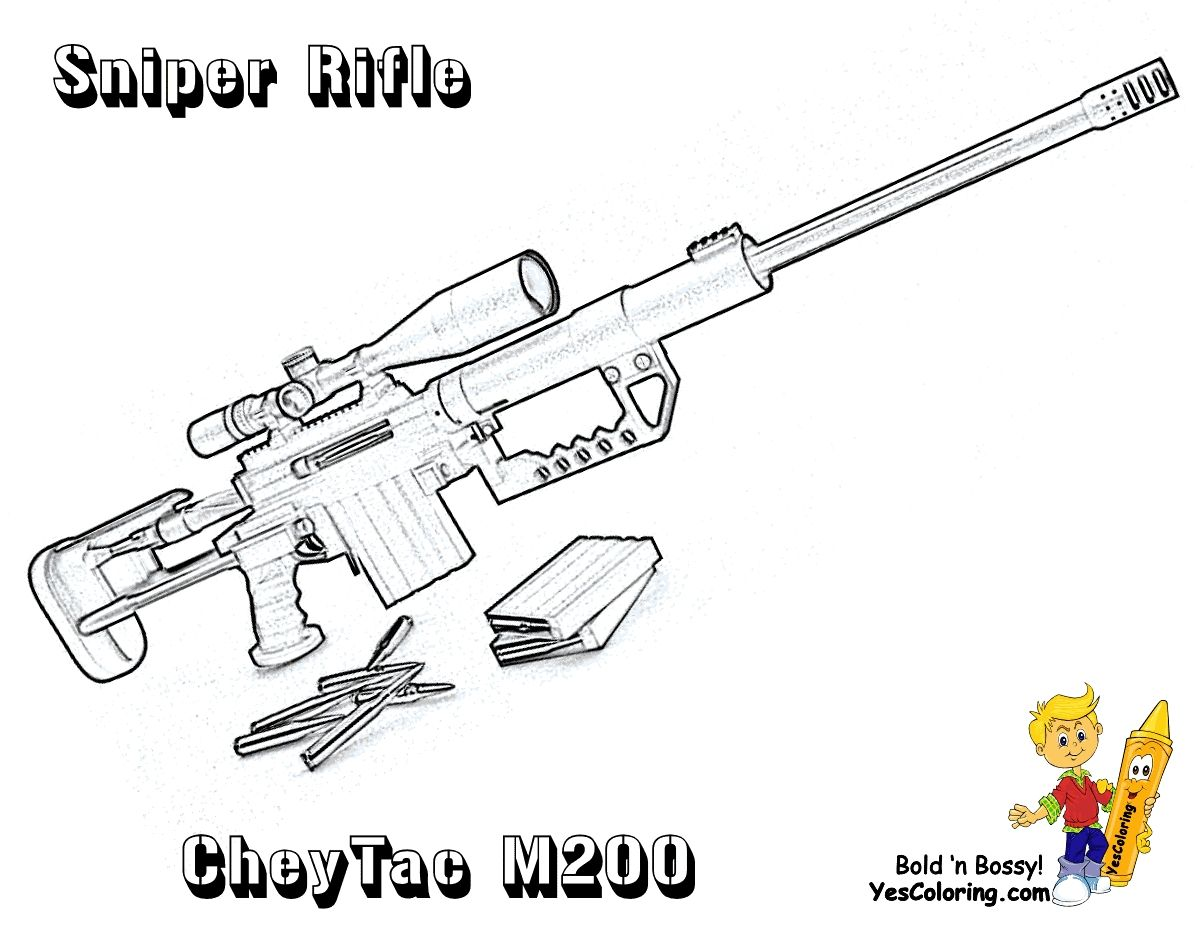 Gun Pictures To Print And Color