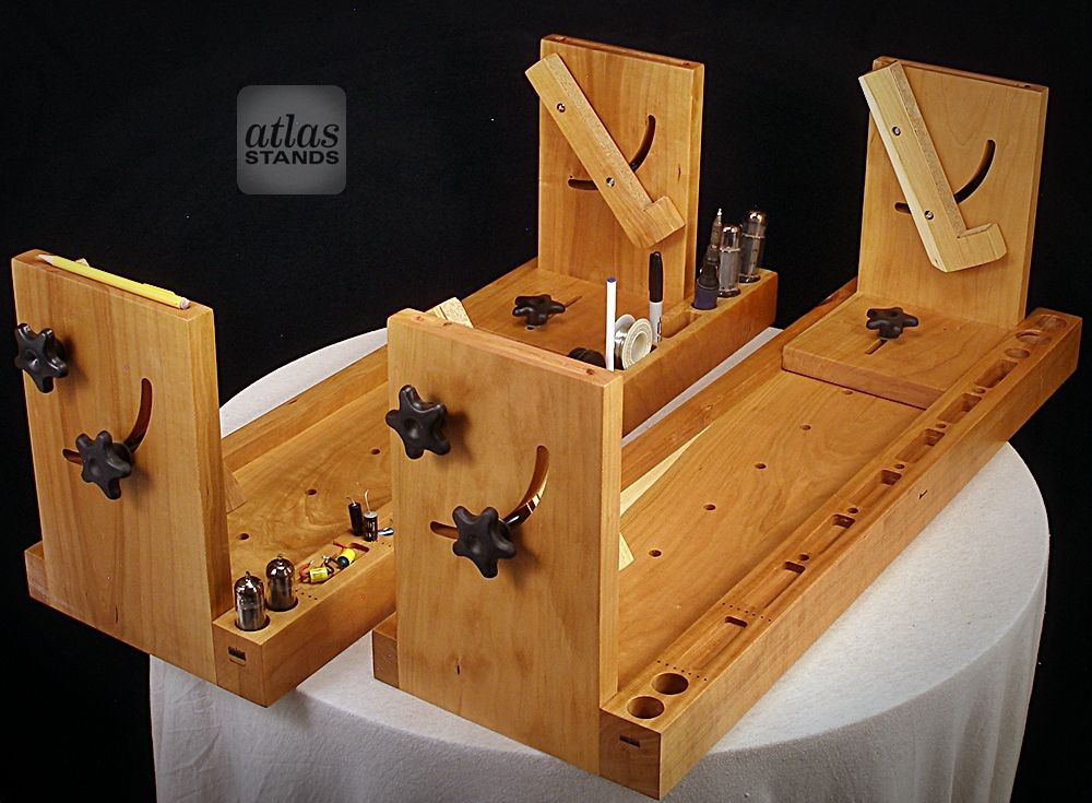 Matching Solid Cherry Atlas Amp Chassis Cradle Stands. May