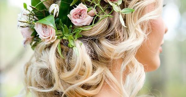 wedding ideas with flowers best photos   Halo, Updo and Wedding
