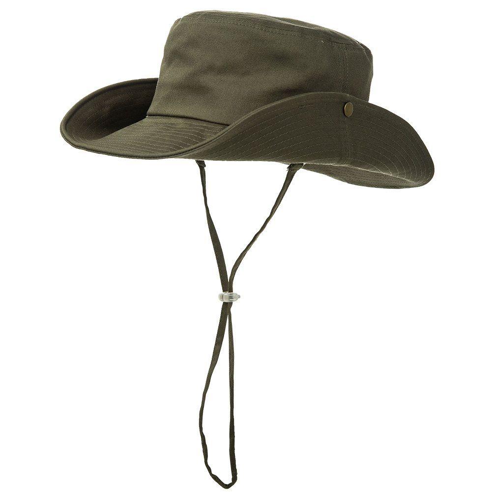 d8a03604309 Siggi 100% Cotton Outdoor UPF 50+ Foldable Boonie Safari Cap for Men Womens  Bucket