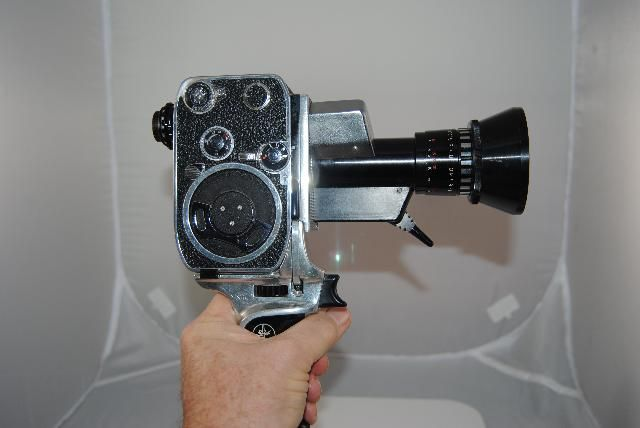 icollect247.com Online Vintage Antiques and Collectables - 1961 P1 Bolex paillard Zoom reflex movie 8mm camera w/case