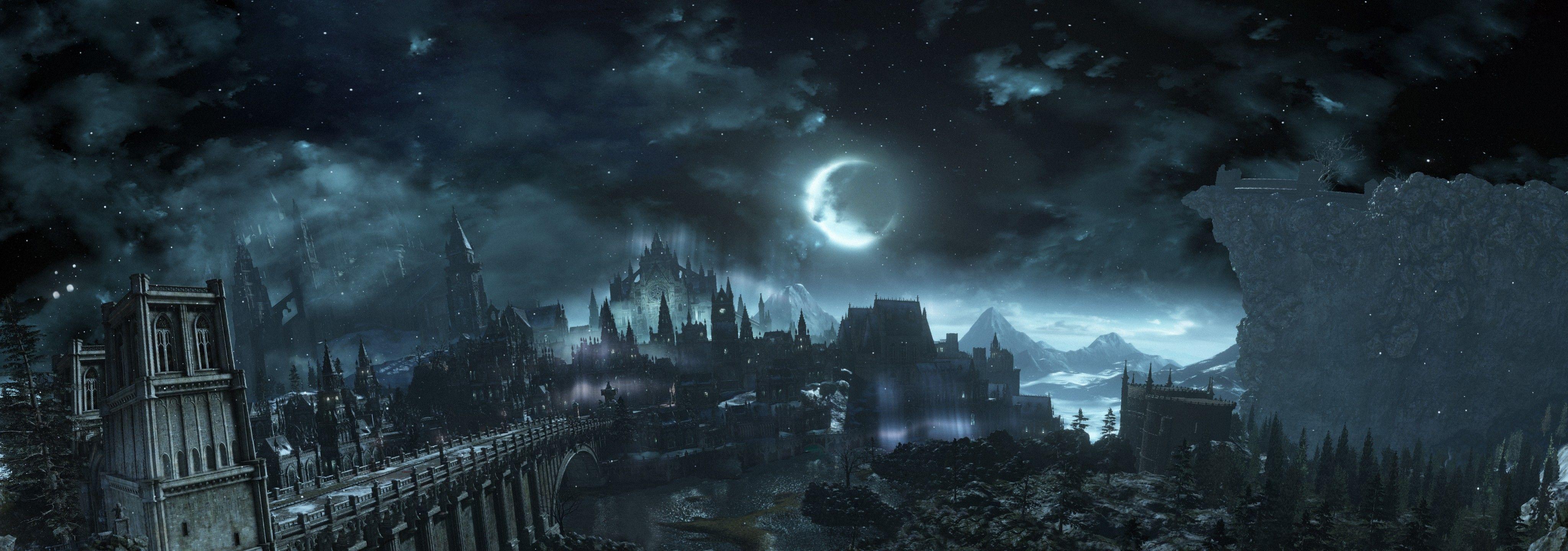 Dark Souls Hd 2021 Live Wallpaper Hd Dark Souls Digital Wallpaper Dark Fantasy Dark souls dual monitor wallpaper