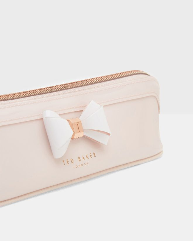 Curved Bow Pencil Case Mid Pink Gifts For Her Ted