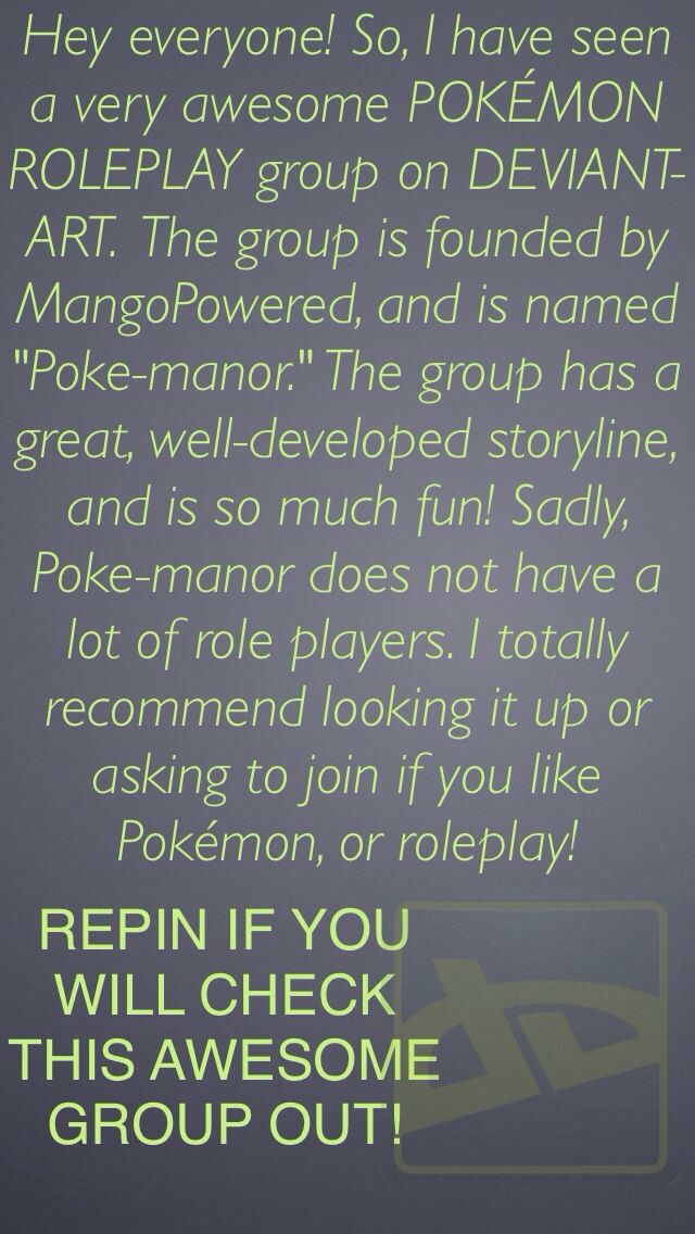 Check out this awesome roleplay group!