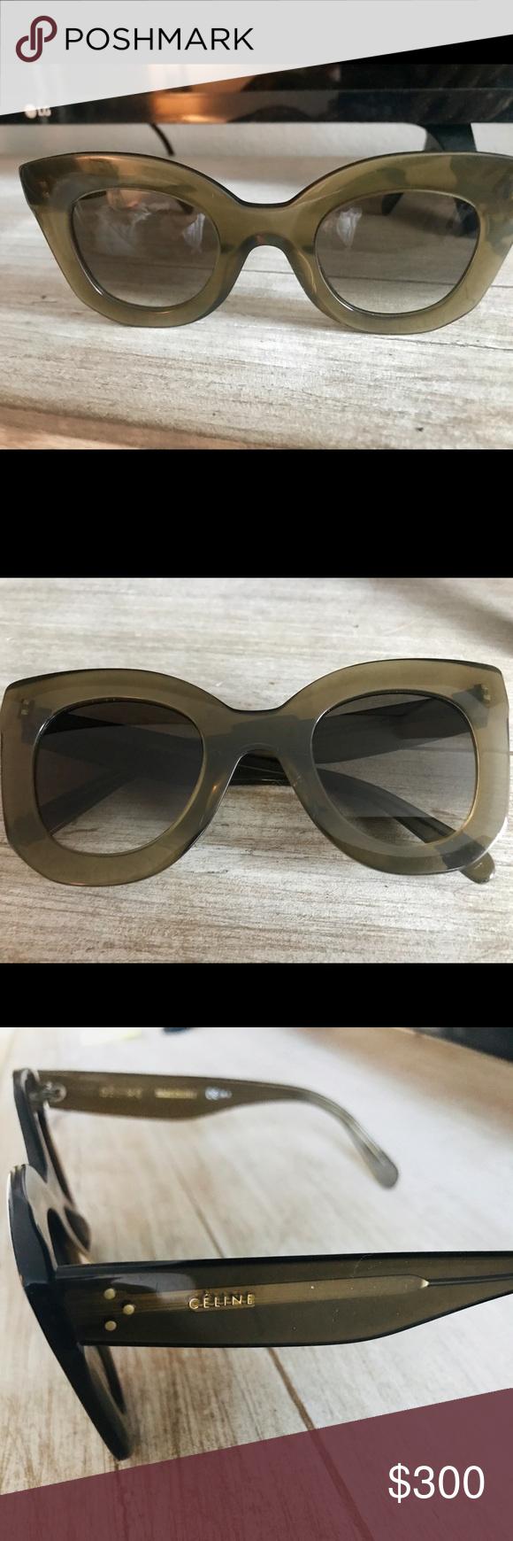 6b988ca5746 Celine Cat Eye Olive Green Sunglasses 46mm Beautiful Celine cat eye  sunglasses. Excellent used condition