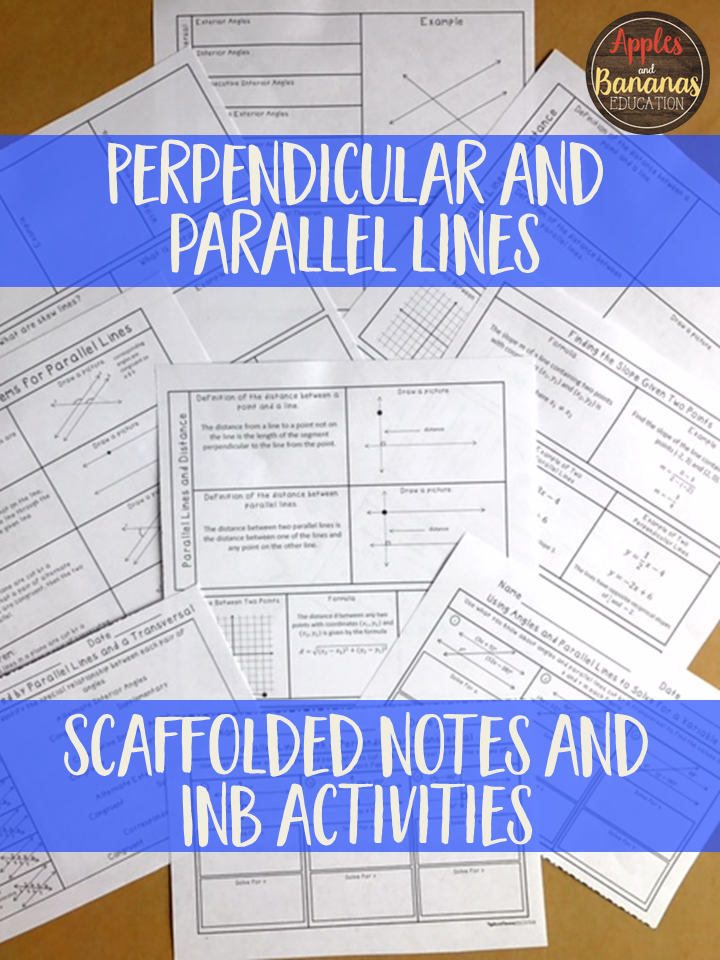 Perpendicular and Parallel Lines - Interactive Note-Taking