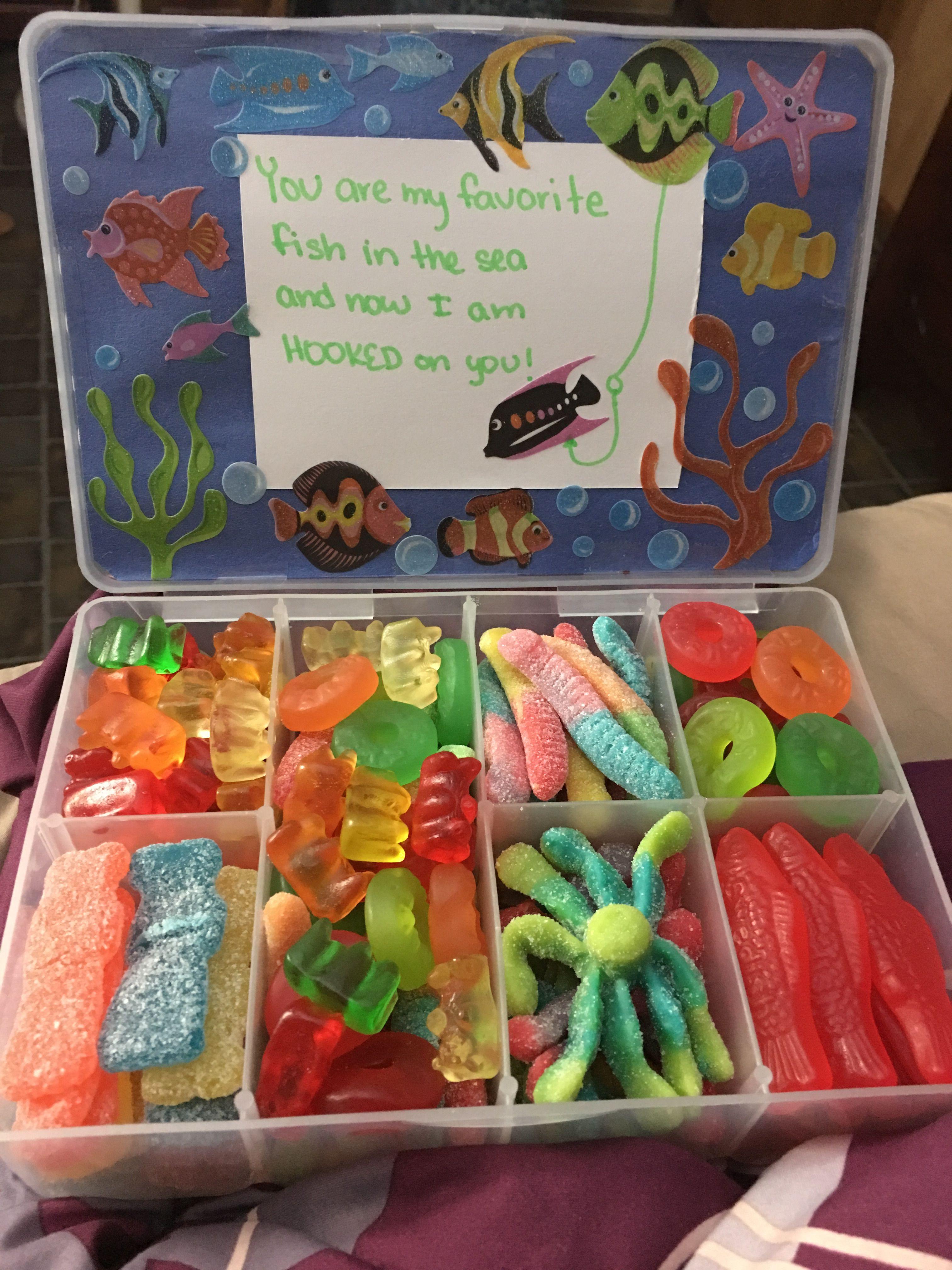 Gummies Box Gift For My Boyfriend Fish Ocean Themed