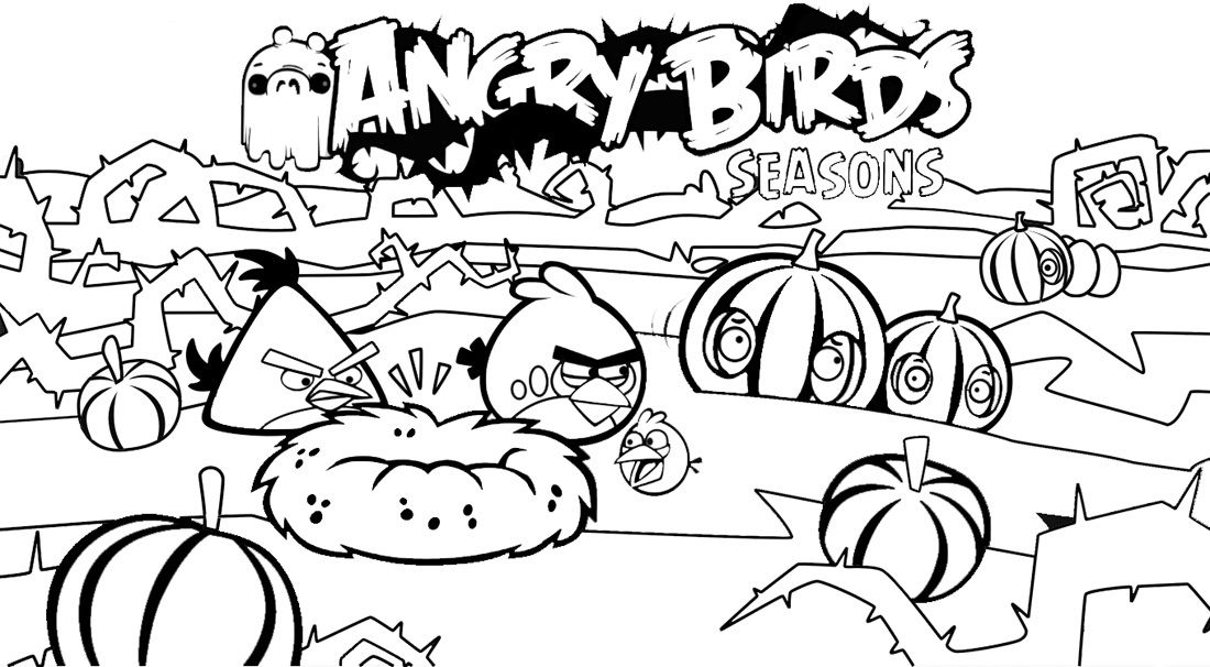 Kids Printable Of Angry Birds Coloring Sheets