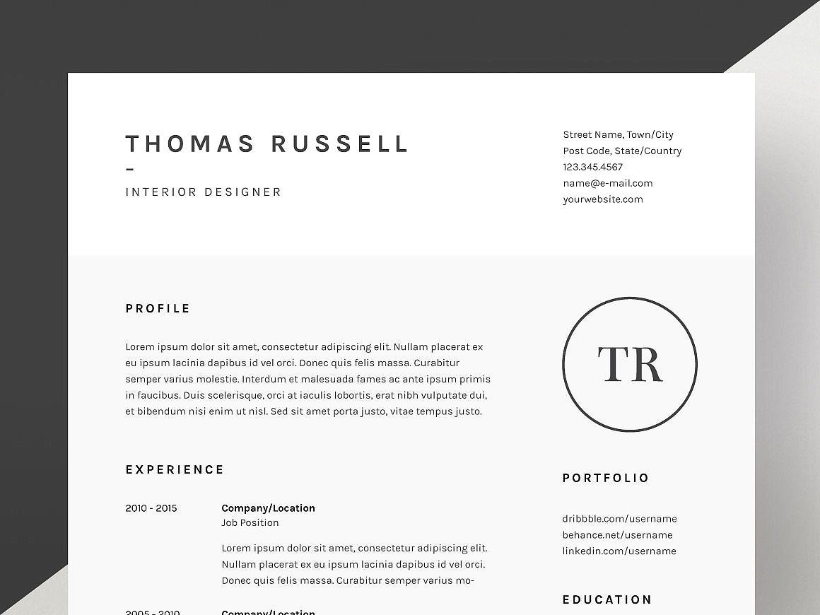 Sale Logo Creators Dream Bundle Cv Template Resume Cv Resume Template