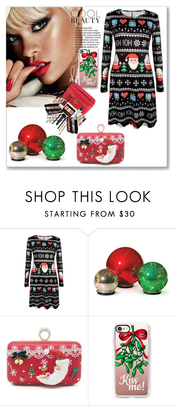 """Christmas style x"" by xpinkplaymatex ❤ liked on Polyvore featuring MAC Cosmetics, Improvements, Casetify and Elizabeth Arden"