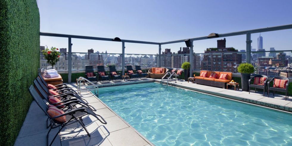 15 New York City Pools To Lounge By This Summer And Year Round Gansevoort Hotel Nyc Hotels Hotel Pool