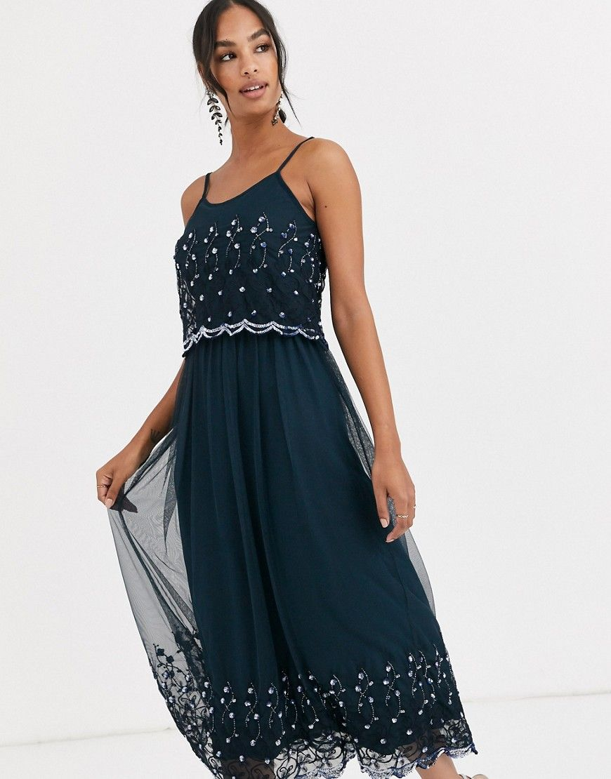 angeleye embellished cami maxi dress-navy | cami maxi dress