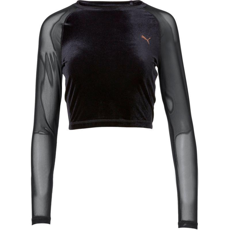bf79e853 Puma Women's Explosive Velvet Crop Top, Black | Products in 2019 ...