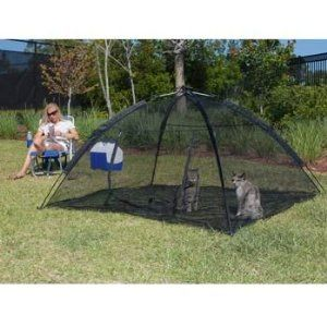 Happy Habitat Pop Up Mesh Tent Outdoor Cat Pet Enclosure. Completely enclosed with floor lets your cat romp around outside safely.  sc 1 st  Pinterest & Outdoor Cat House For Indoor Cat. Ha. Funny. My Housebound Homie ...