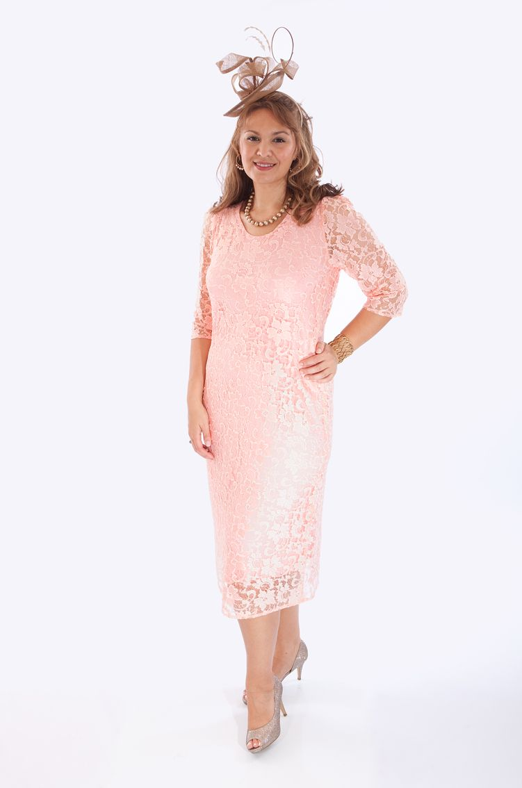 A gorgeous lace dress by Penguin Designs for a mother of the bride ...