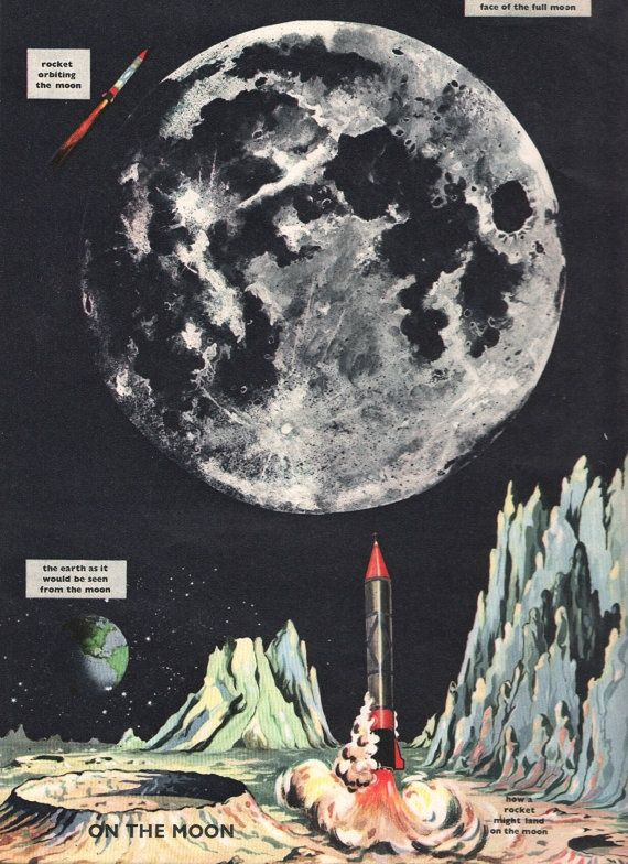 Retro space illustrations google search space bound for Retro outer space