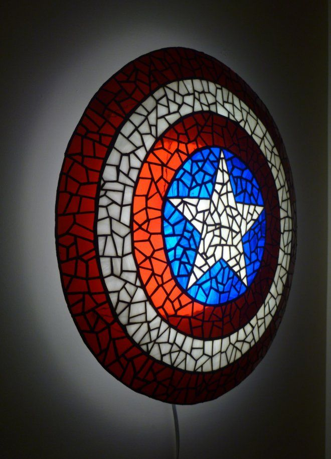 Great Superhero Novelty Captain America Shield Lamp   Lamps Are Quite Common Inu2026