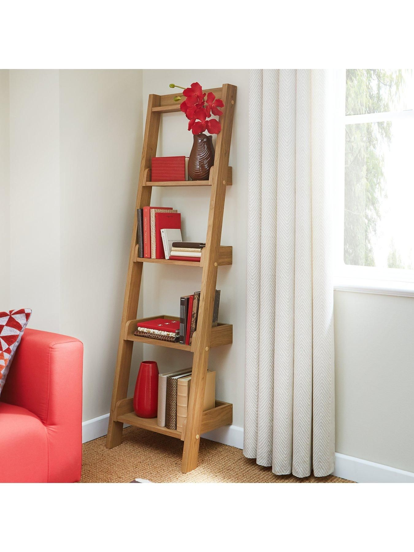 Unbranded Metro Narrow Ladder Shelf Donu0027t Just Display Your Books,  Ornaments And Pictures... Show Them Off Instead! This Contemporary 5 Shelf  Ladder Unit ...