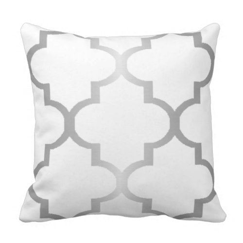 New Silver Metallic Quatrefoil Choose Background Throw Pillow In 2018 - Popular throw pillows for sofa Plan