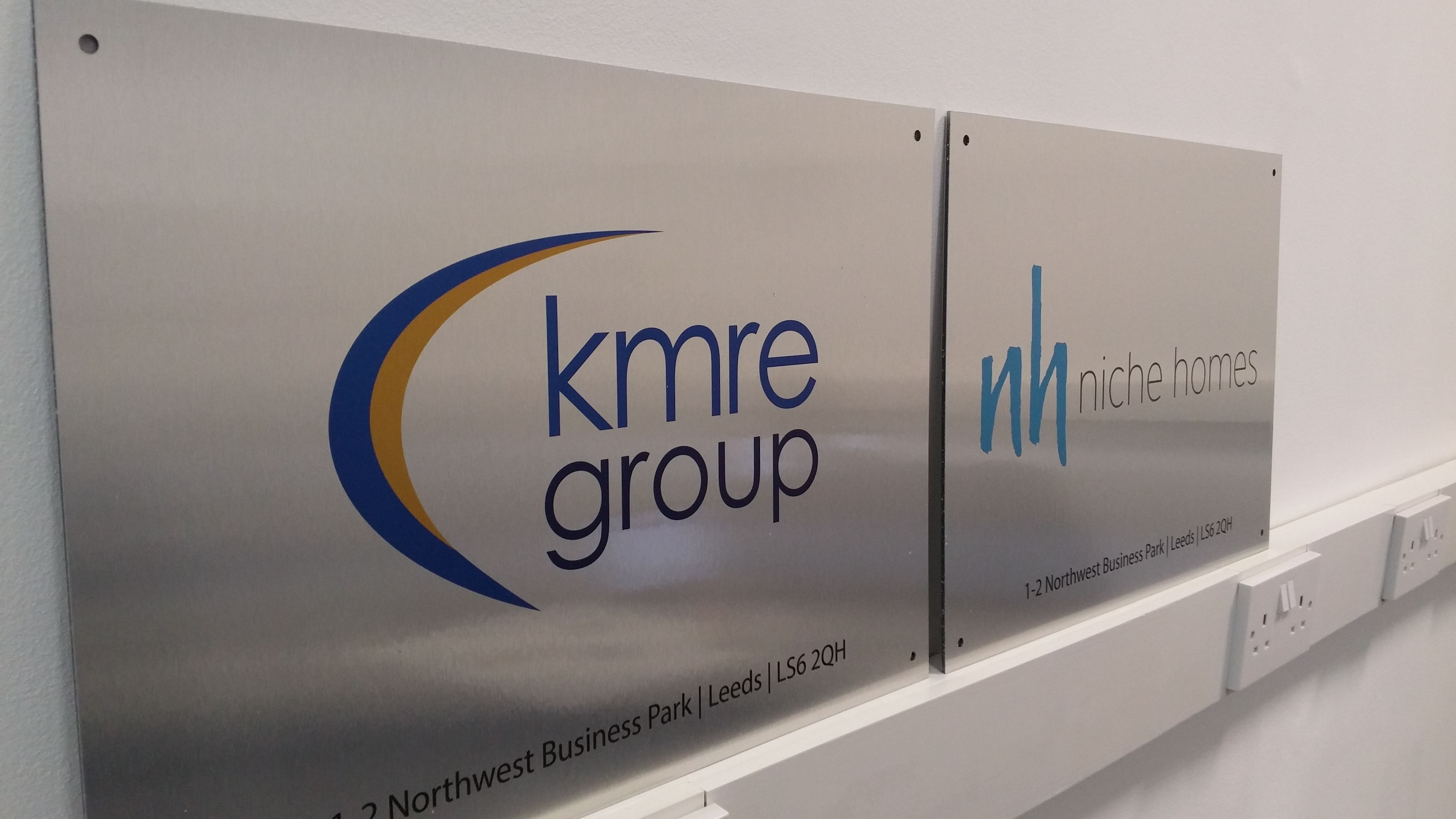 Brushed Aluminium Signs For Kmre Niche Homes Aluminum Signs Brushed Aluminum Signage