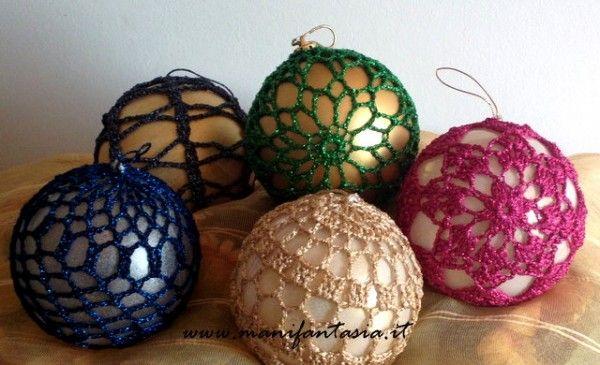 Palline Di Natale Alluncinetto Schemi Crochet Christmas Balls