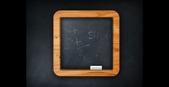 Minimal chalkboard icon PSD Web design projects, App