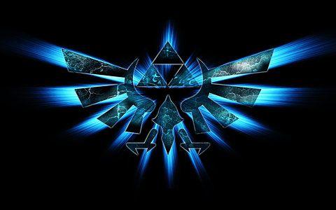Wallpaper Fixed Triforce Blue Zelda Symbol Legend Of Zelda 171227 Wallbase Net Zelda Logo Zelda Hd Legend Of Zelda