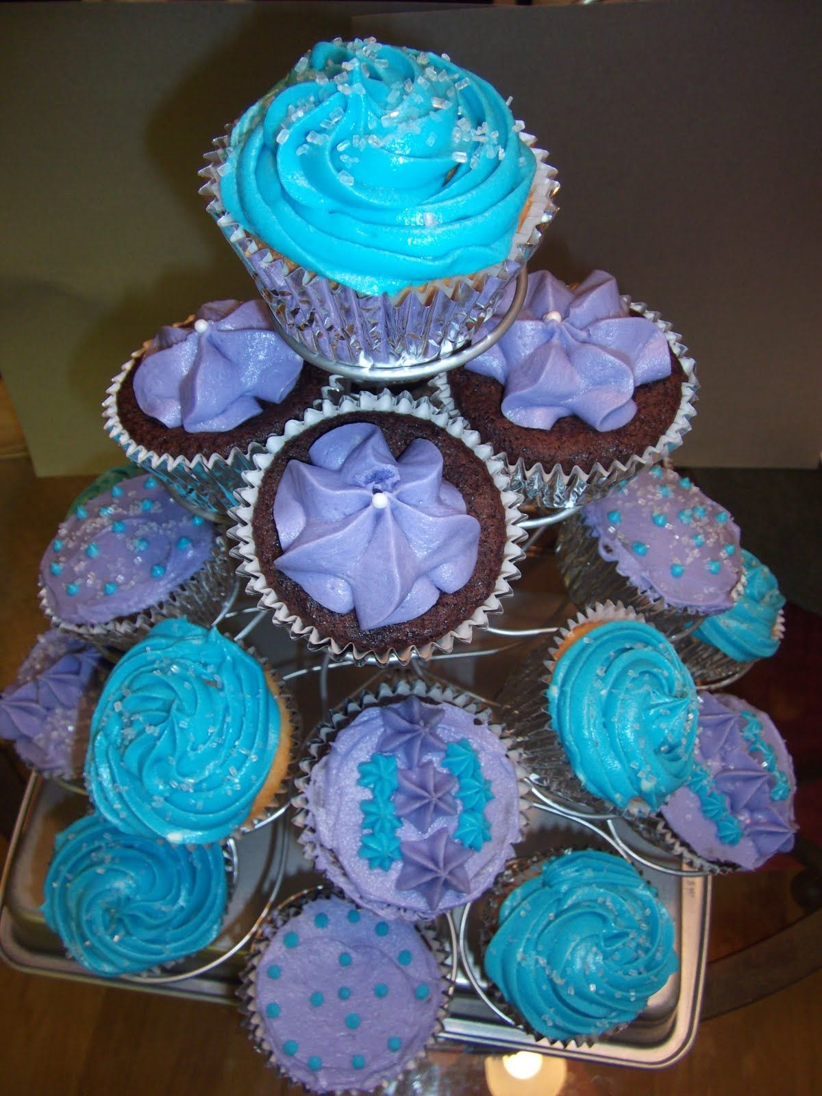 blue and purple cupcakes Google Search Wedding