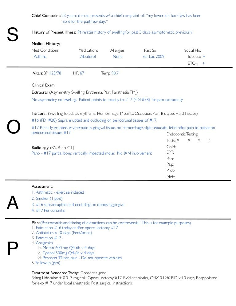 Soap Note Example   List For Notes    Soap Note Note