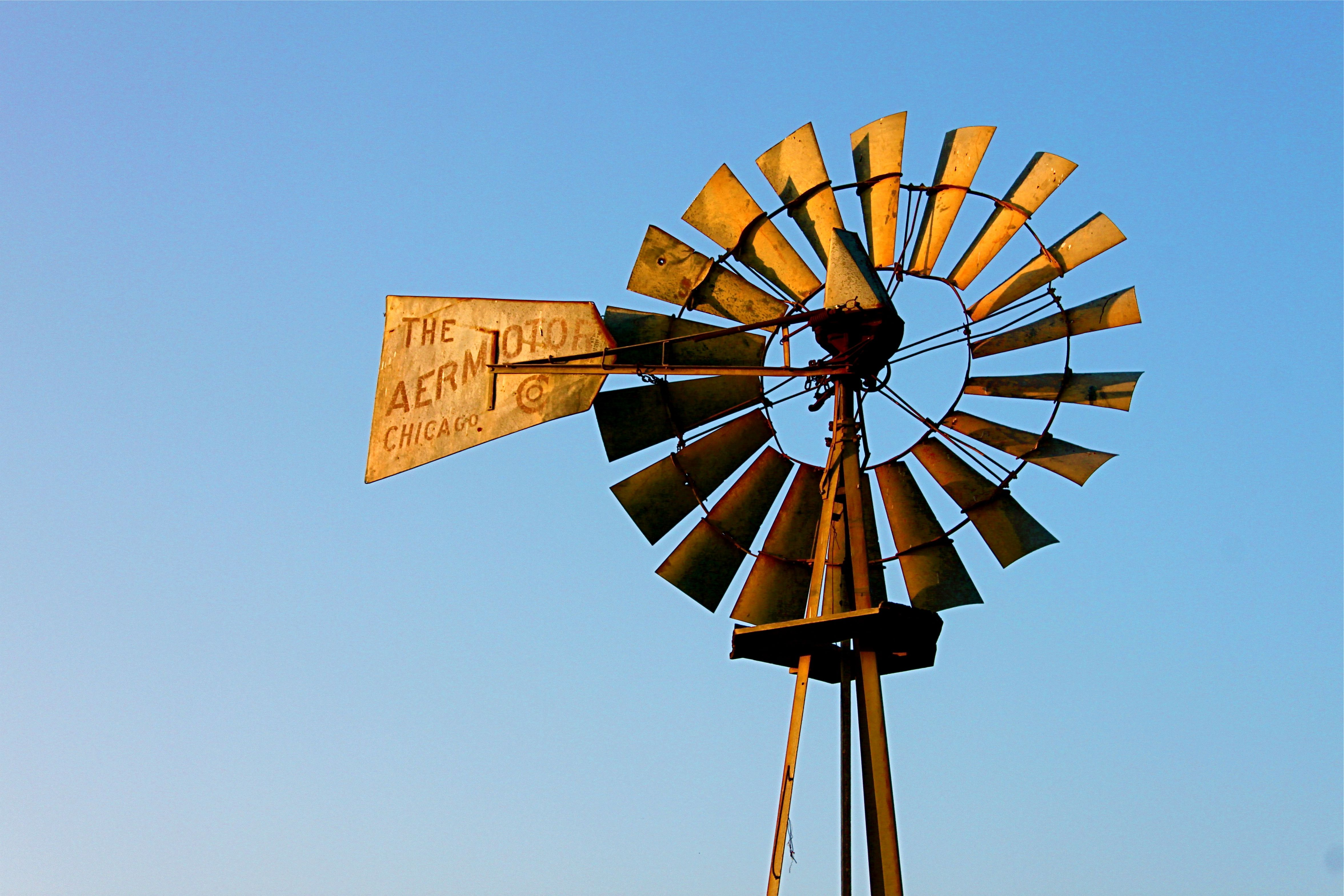 Old Windmills No Longer Turn With The Wind These Power Generators Would Run The Pump Jack And Draw Up Water Now This Is Old Windmills Clark Art Sale Poster