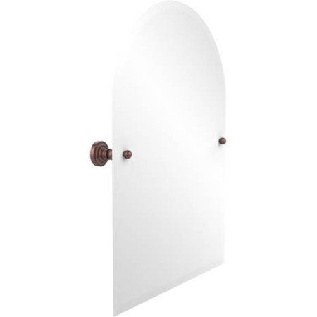 Frameless Arched Top Tilt Mirror with Beveled Edge (Build to Order), Black