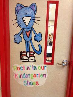 Rockin' in our Kindergarten Shoes door art