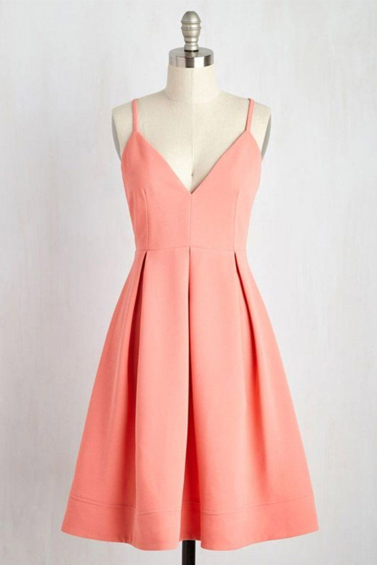 Prom Dresses Classy, 2019 New Arrival Spaghetti Straps Homecoming Dresses A Line Satin Charris Bridal -   14 cute dress Classy ideas