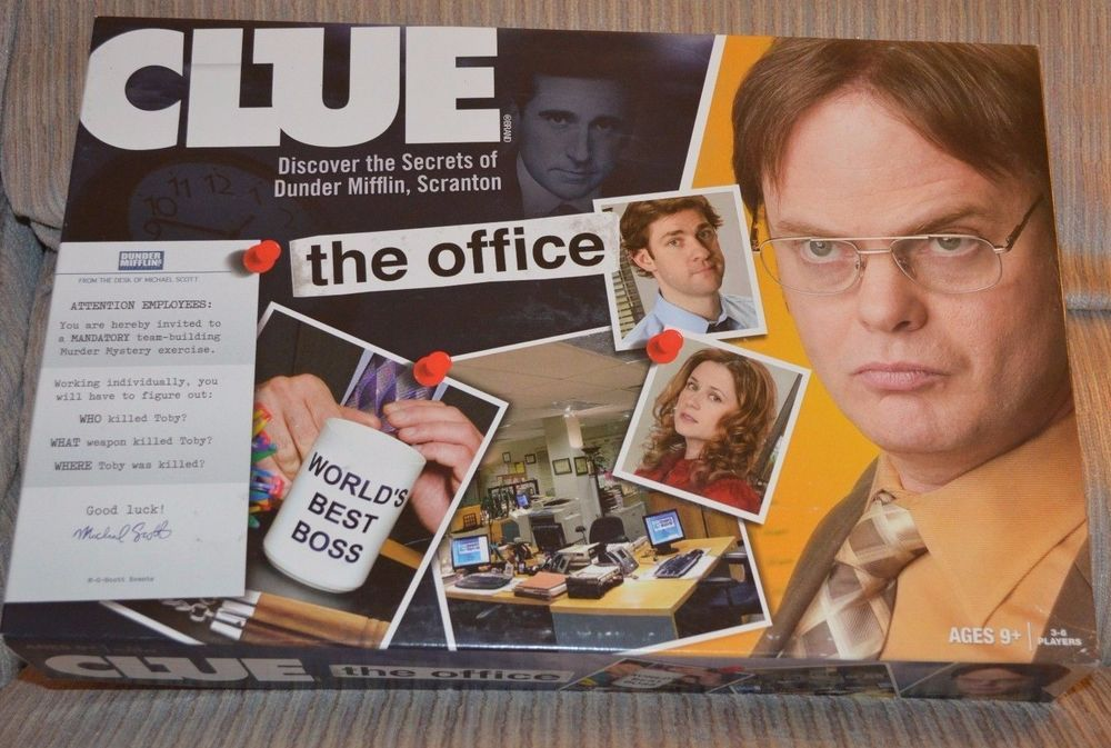 The Office Edition Clue Board Mystery Hasbro New Open Box