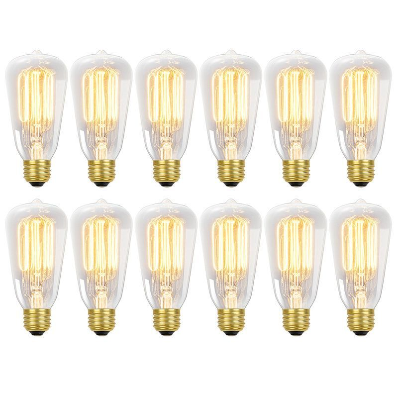 64c1e71b712 View the Globe Electric 8440501 60-watt S60 Antique Style Squirrel Cage  Incandescent Medium Base