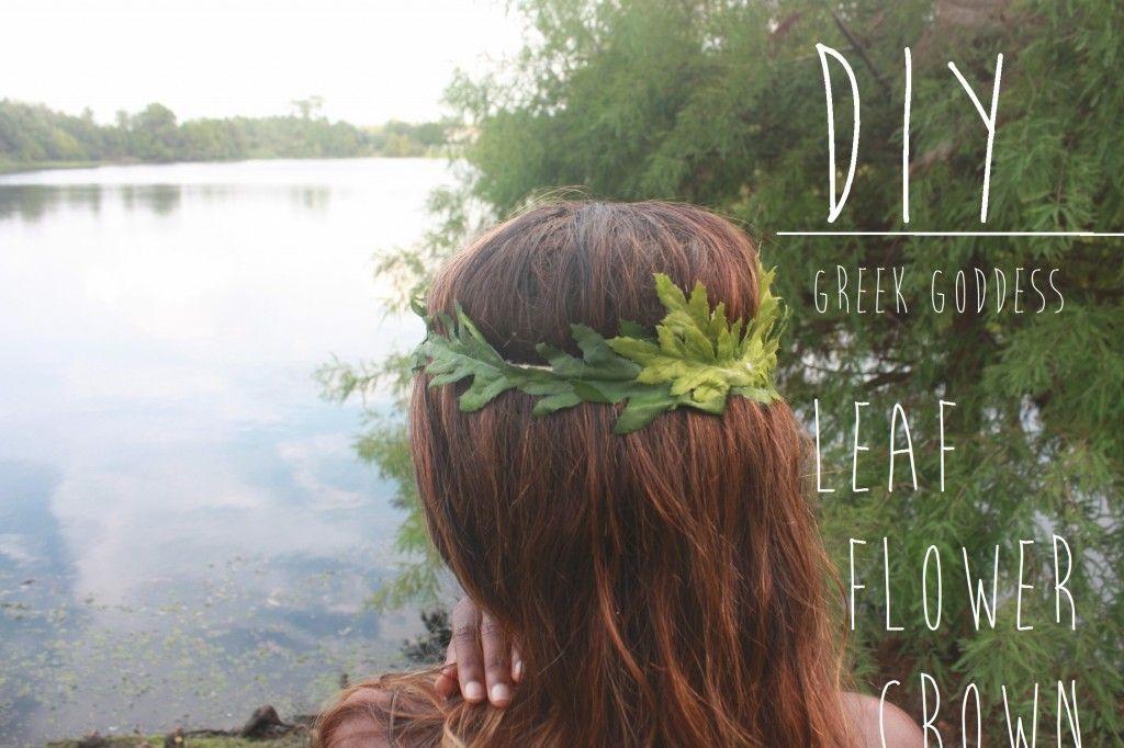 Fall Inspired Greek Goddess Leaf Crown DIY The Party DIY CUTE - Diy greek hairstyle