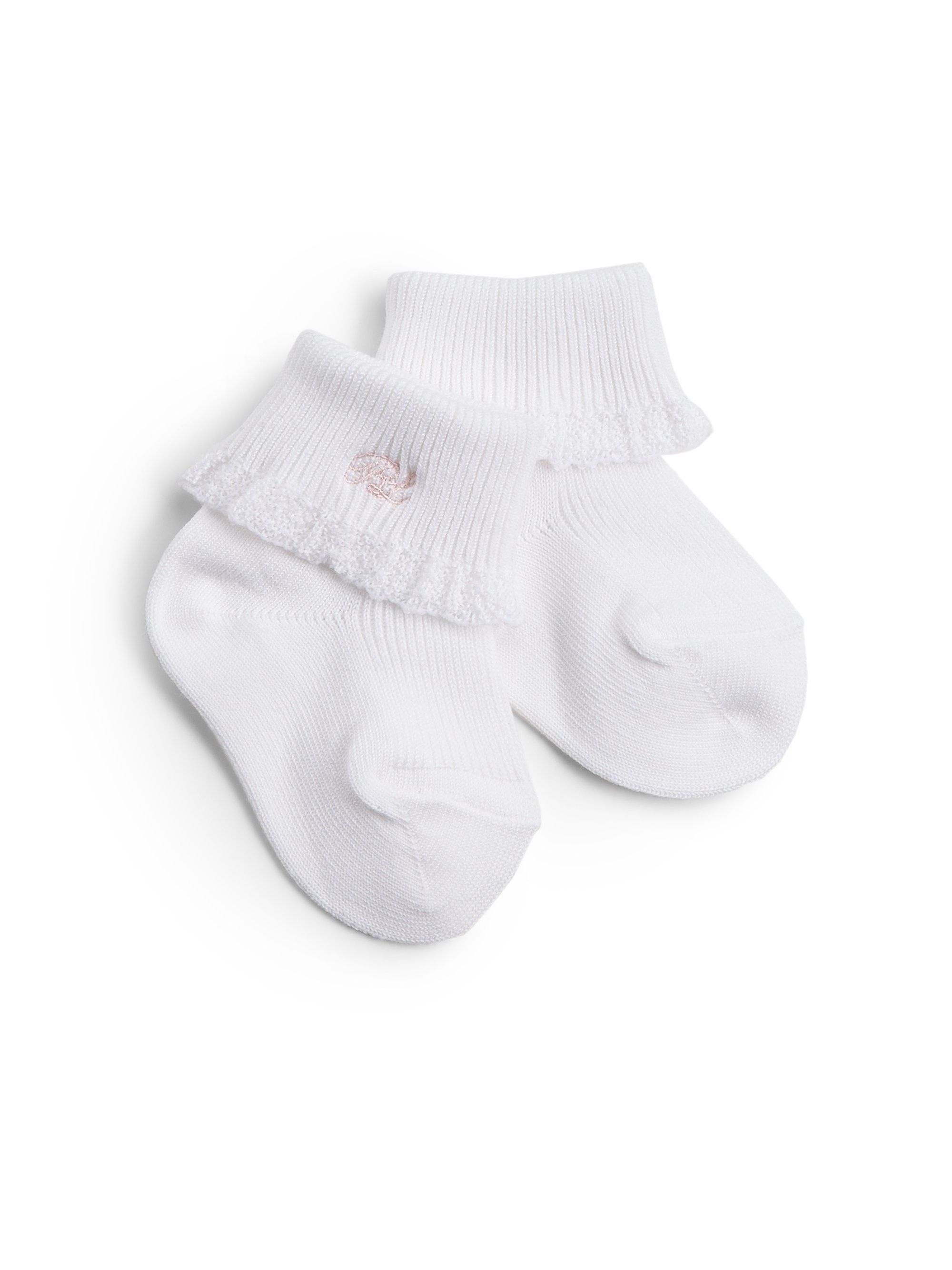 Ralph Lauren Baby s Lace Trimmed Cotton Socks Pink 0 6 Months