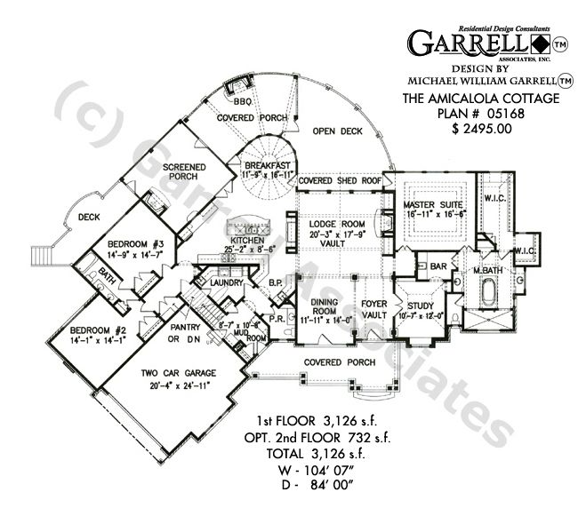 Amicalola Cottage - Rustic Style House Plan | House Plans by Garrell ...