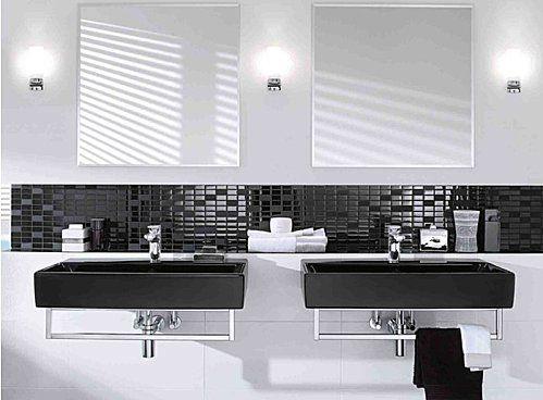 Osez la salle de bains noire salle de bains salle et for Salle de bain noir et bois